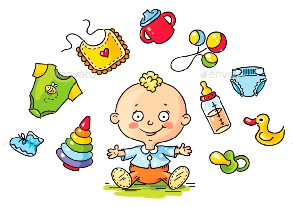 Happy Kid - Objects Vectors