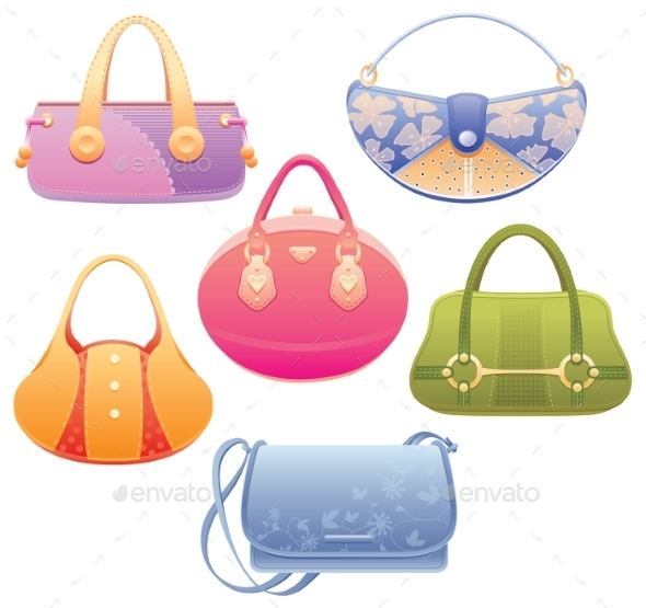 Lady Bags - Objects Vectors