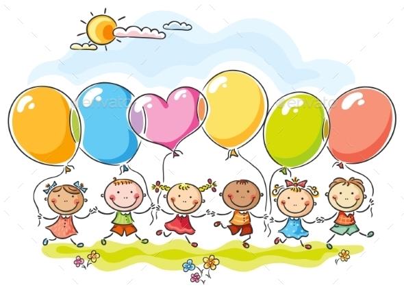 Colourful Balloons - Birthdays Seasons/Holidays
