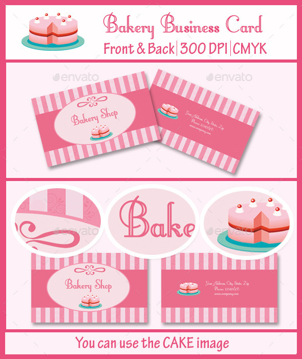 Bakery shop business card by artistmedia graphicriver bakery shop business card business cards print templates reheart Gallery