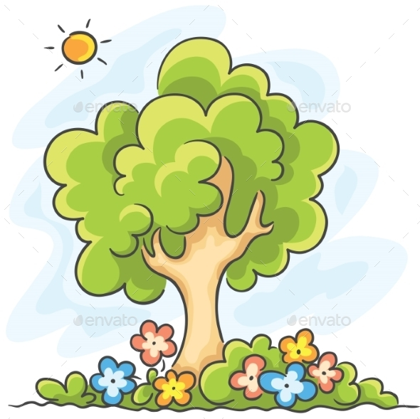 Tree and Flowers - Nature Conceptual