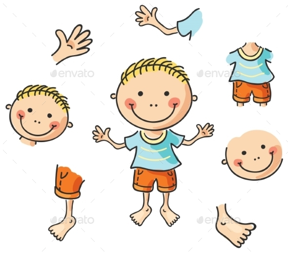 Cartoon Body Parts - People Characters