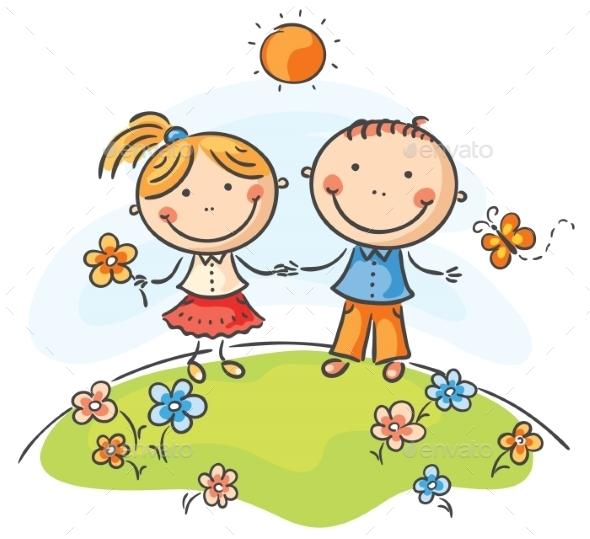 Happy Children - People Characters