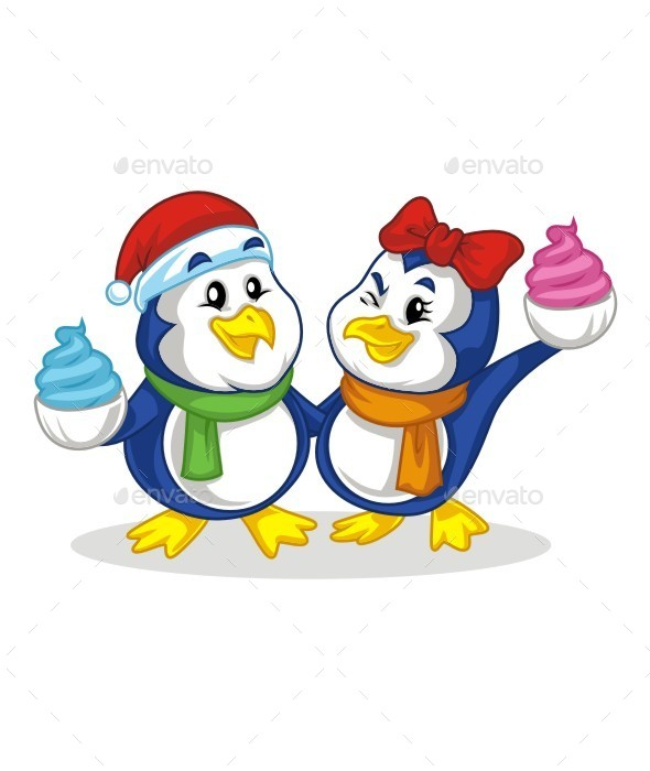 Twin Pinguin - Animals Characters