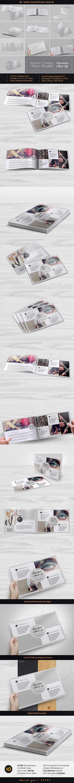 Realistic Horizontal Brochure Mock-Up - Print Product Mock-Ups