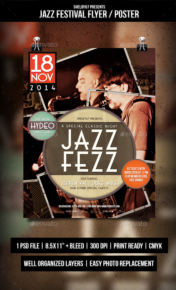 Jazz Festival Flyer / Poster - Events Flyers
