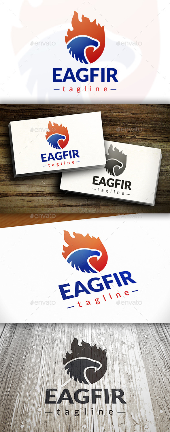 Eagle Fire Logo - Animals Logo Templates
