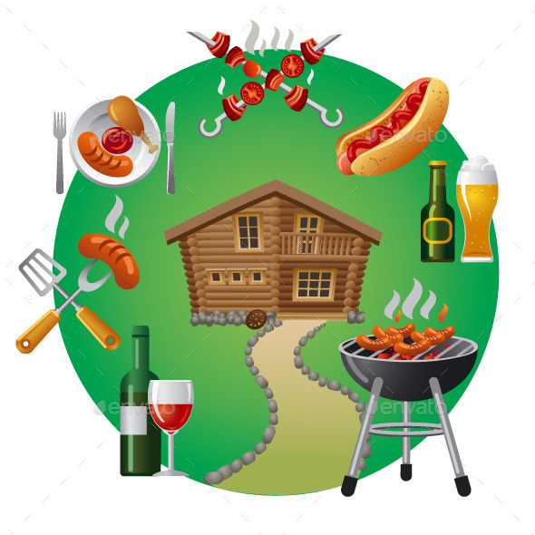 Country Barbecue - Food Objects