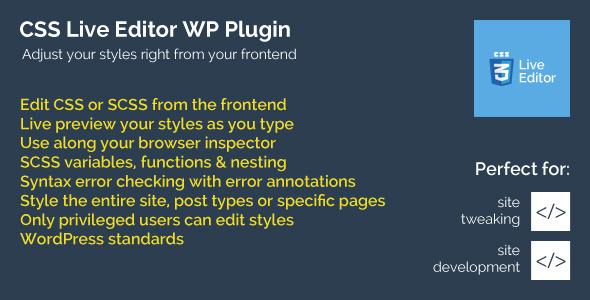 CSS Live Editor WordPress Plugin