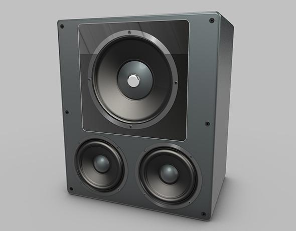 Audio speaker - 3DOcean Item for Sale