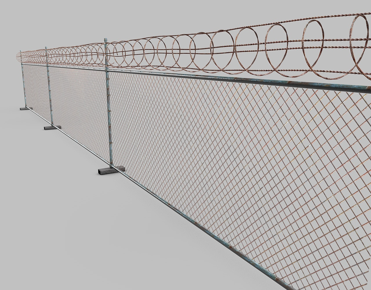 barbed wire fence by remmac   3DOcean