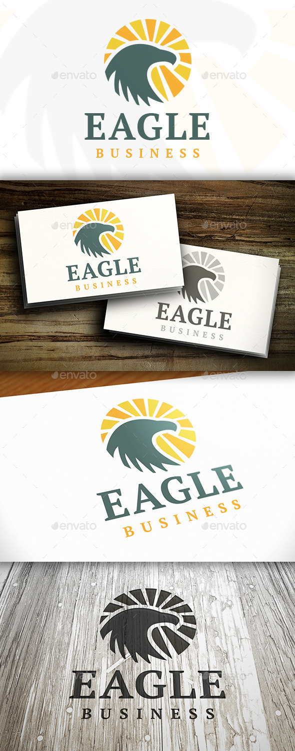 Eagle Rising Logo - Nature Logo Templates