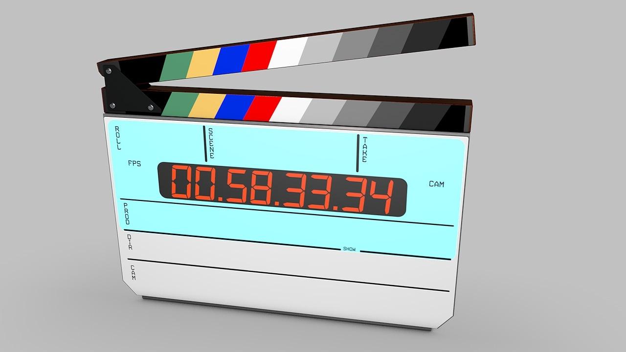 Digital movie/film clapper board