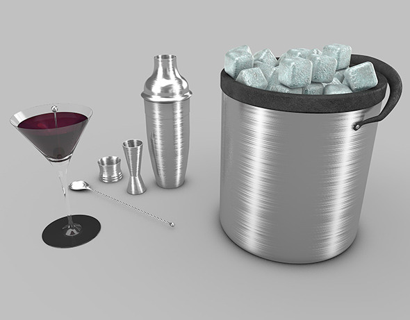 cocktail and shaker - 3DOcean Item for Sale