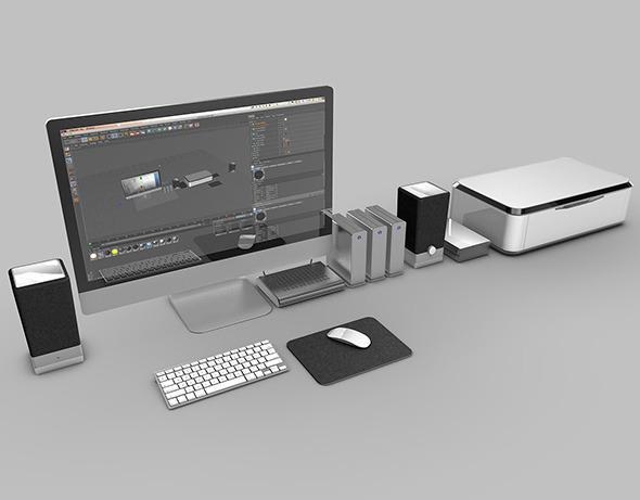 Computer workstation - 3DOcean Item for Sale