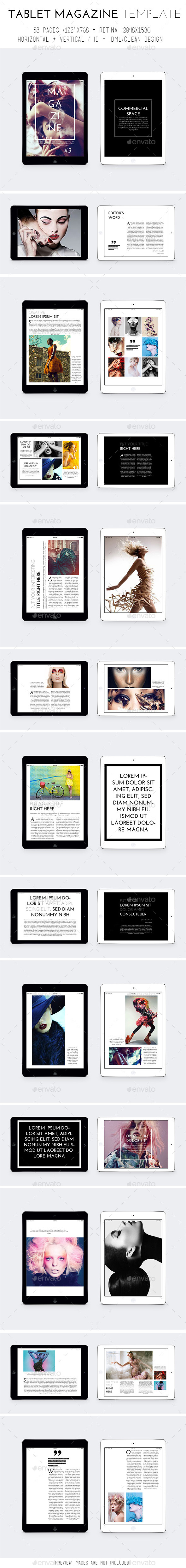 iPad & Tablet Magazine Template - Digital Magazines ePublishing