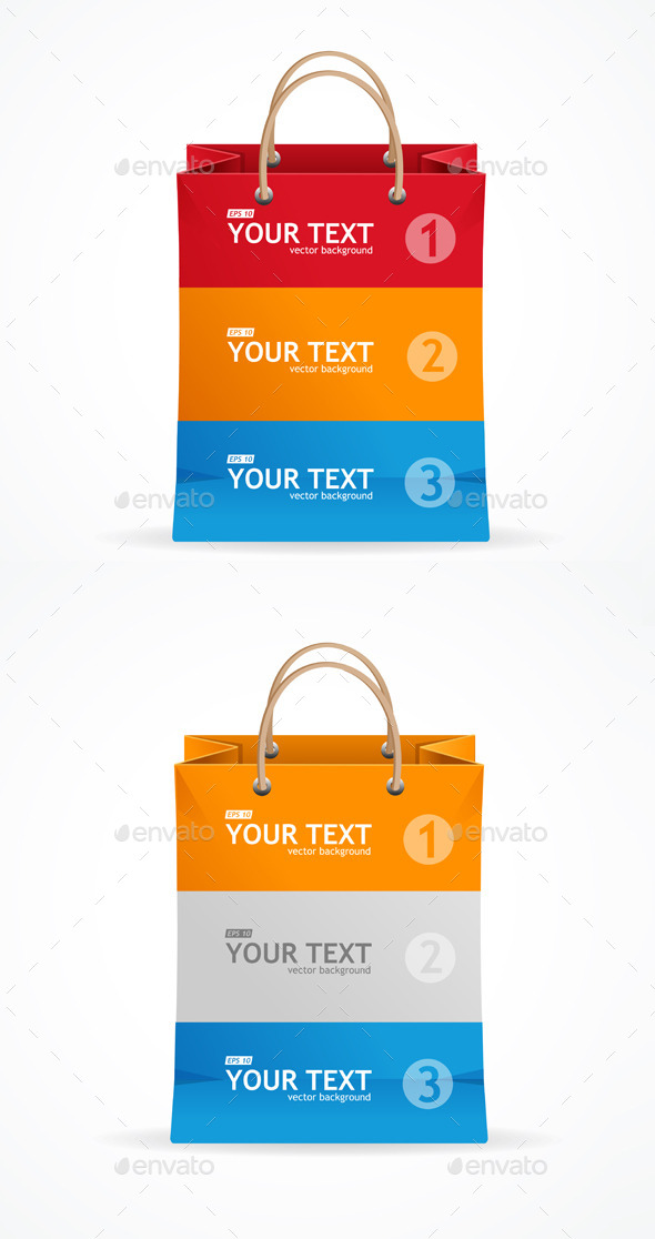 Paper Bag like Option Banner - Retail Commercial / Shopping