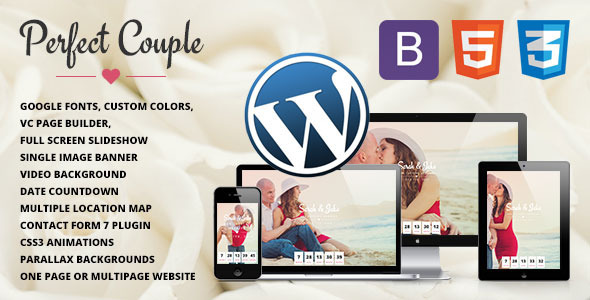 Perfect Couple – Wedding WordPress Theme