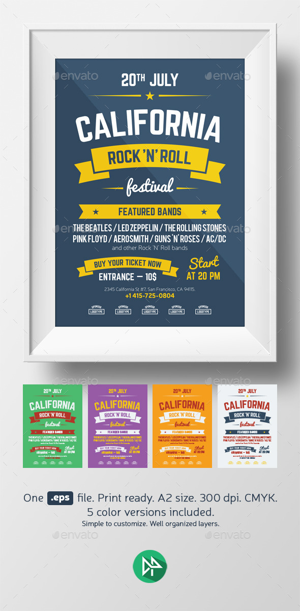 Music Festival Poster Template - Events Flyers