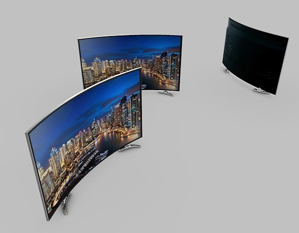 Ultra-HD Curved LED TV - 3DOcean Item for Sale