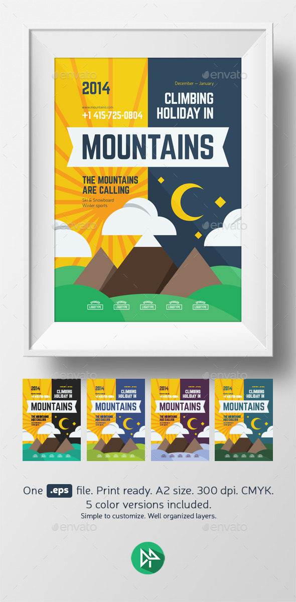 Mountain Climbing Poster Template - Events Flyers
