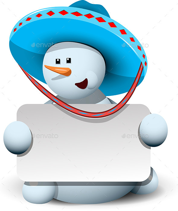 Snowman in a Sombrero - Christmas Seasons/Holidays