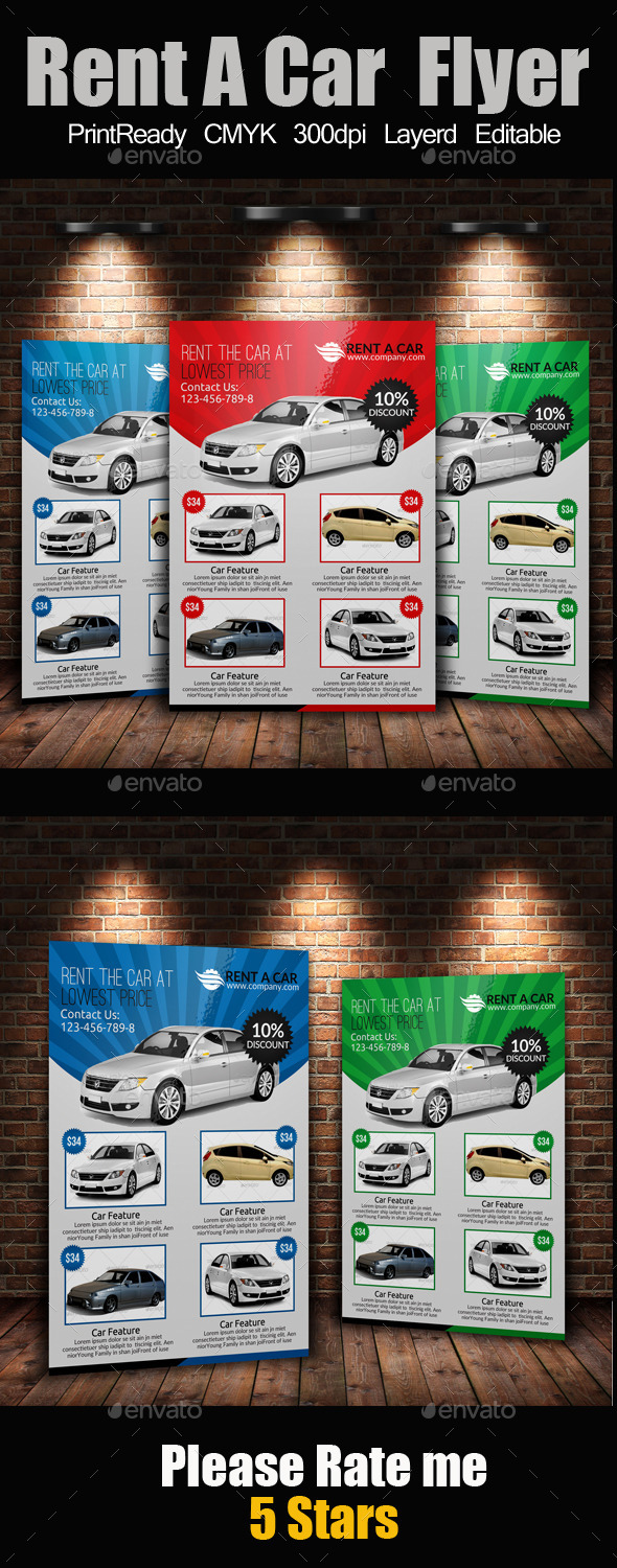 Rent A Car Flyer - Commerce Flyers