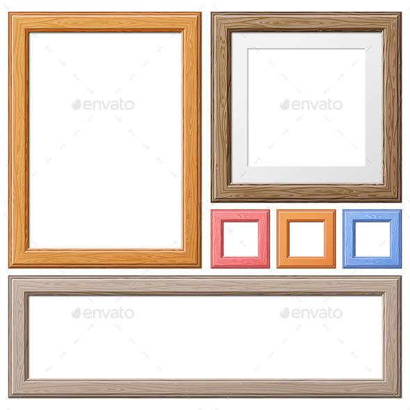 Collection of Wooden Frames - Borders Decorative