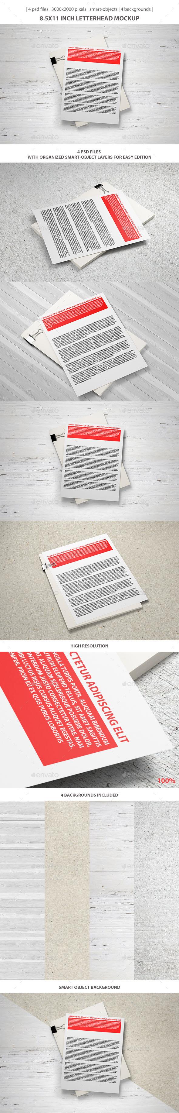 8.5x11 inch Letterhead Mockup - Stationery Print