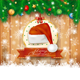 Christmas Background with Fir, Hat and Copy Space - GraphicRiver Item for Sale