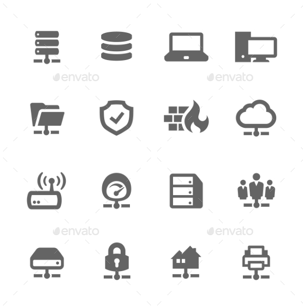 Network and Servers Icons - Technology Icons