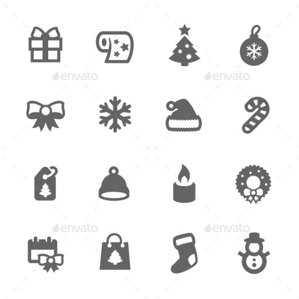 New Year Icons - Seasonal Icons