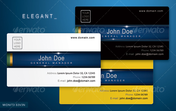 Clean elegant business card by midnit3s3v3n graphicriver clean elegant business card reheart Gallery