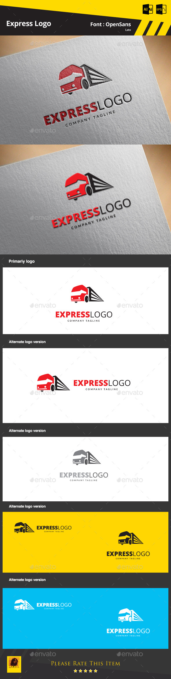 Express Logo Template - Objects Logo Templates