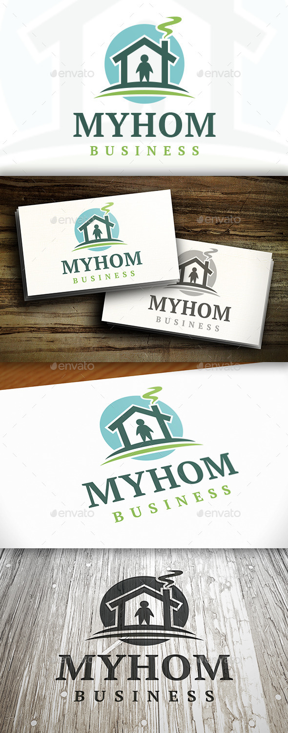 My Home Logo - Buildings Logo Templates