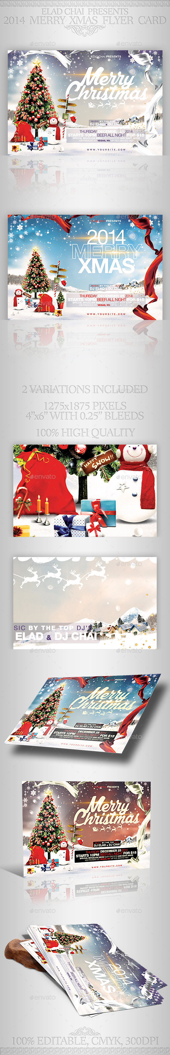 2015 Christmas Flyer Card Template - Holidays Events
