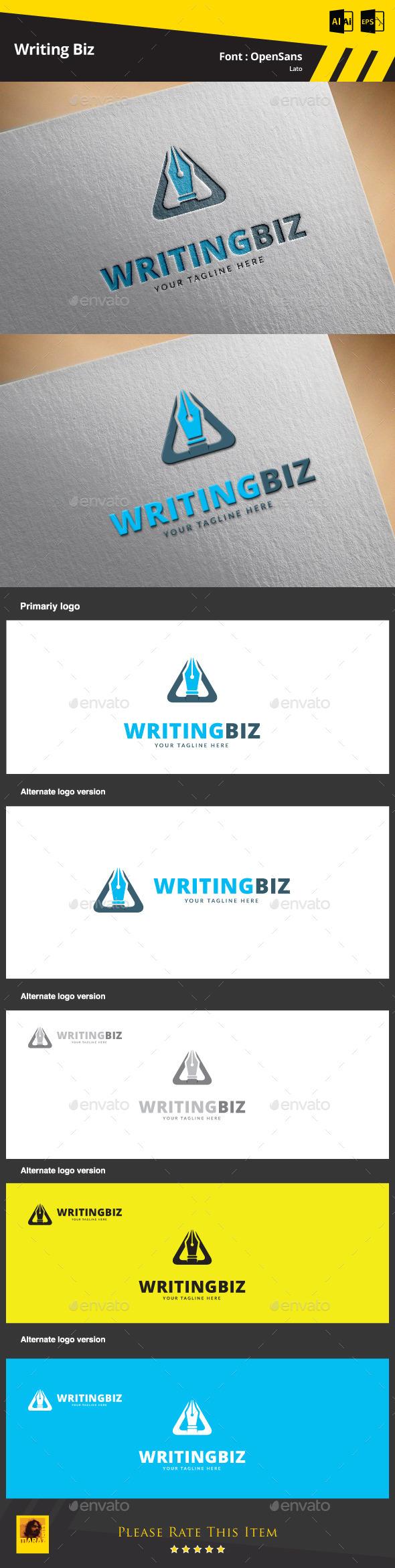 Writing Biz Logo Template - Symbols Logo Templates