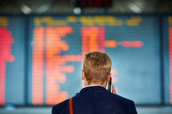 Man at the airport - Stock Photo - Images