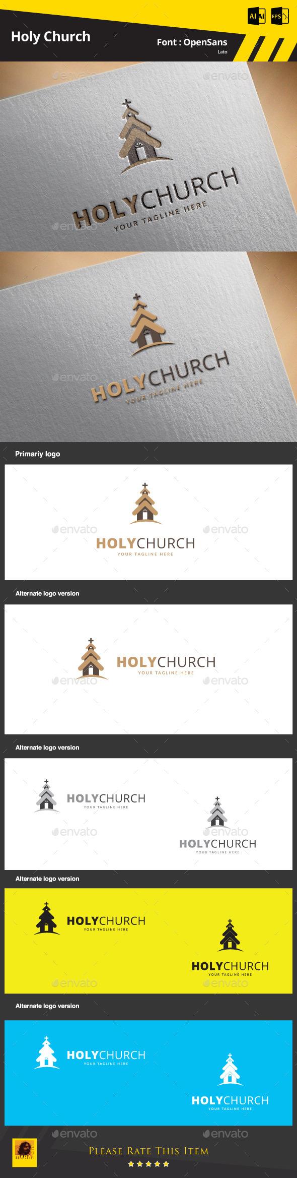 Holy Church Logo Template - Buildings Logo Templates