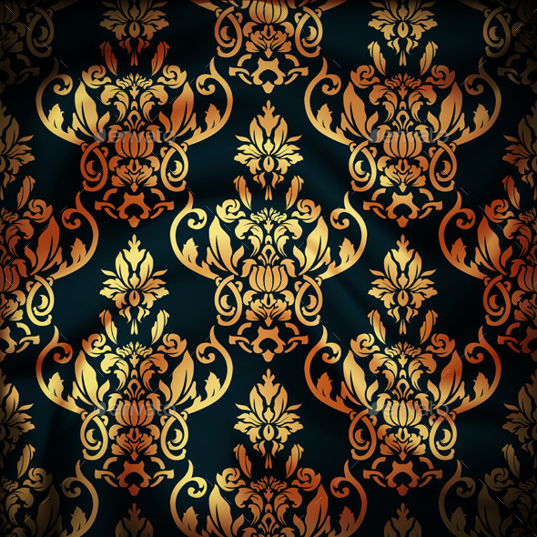 Drapery Damask Textile Background - Patterns Decorative