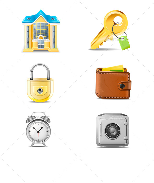 Real Estate Business Icons Vector - Miscellaneous Icons