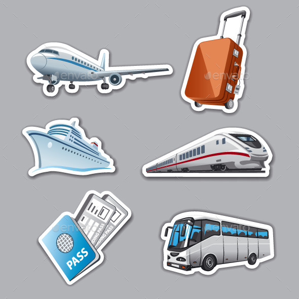 Travel Stickers - Travel Conceptual