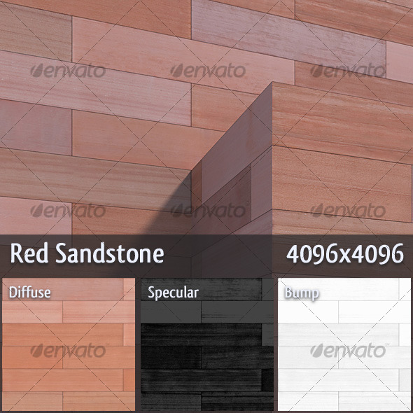 Red Sandstone - 3DOcean Item for Sale
