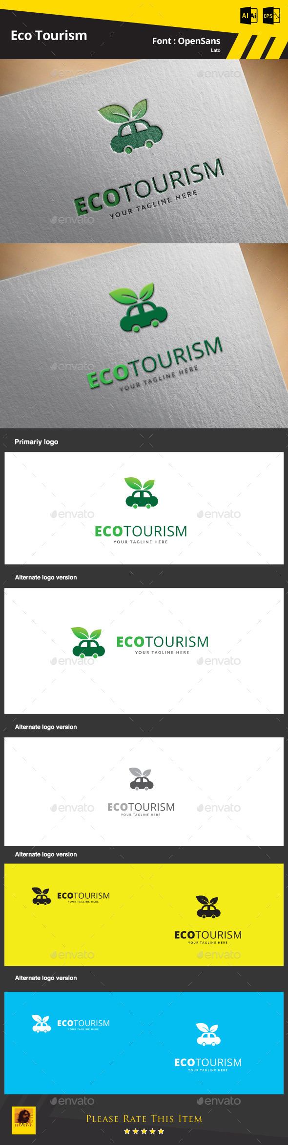 Eco Tourism Logo Template - Abstract Logo Templates