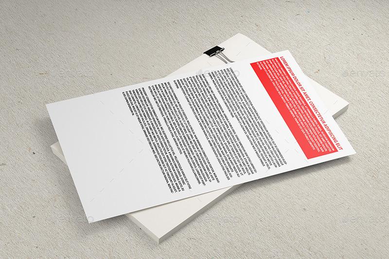 8 5x14 inch letterhead mockup by professorinc graphicriver