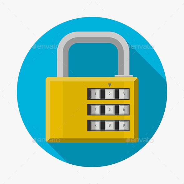 Flat Icon for Padlock - Web Elements Vectors