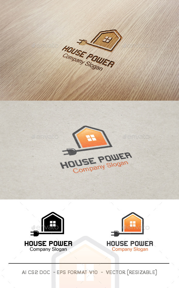House Power Logo - Objects Logo Templates