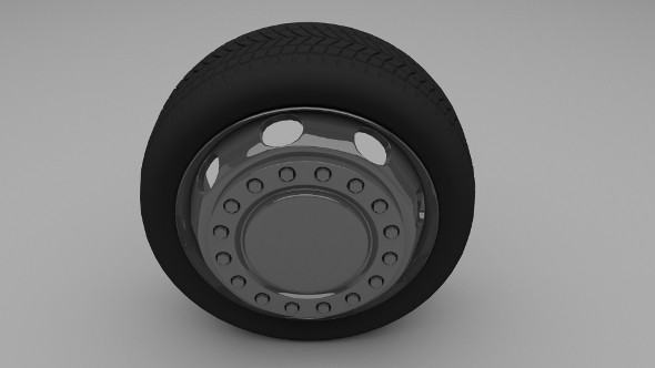 Truck / Bus Wheel - 3DOcean Item for Sale