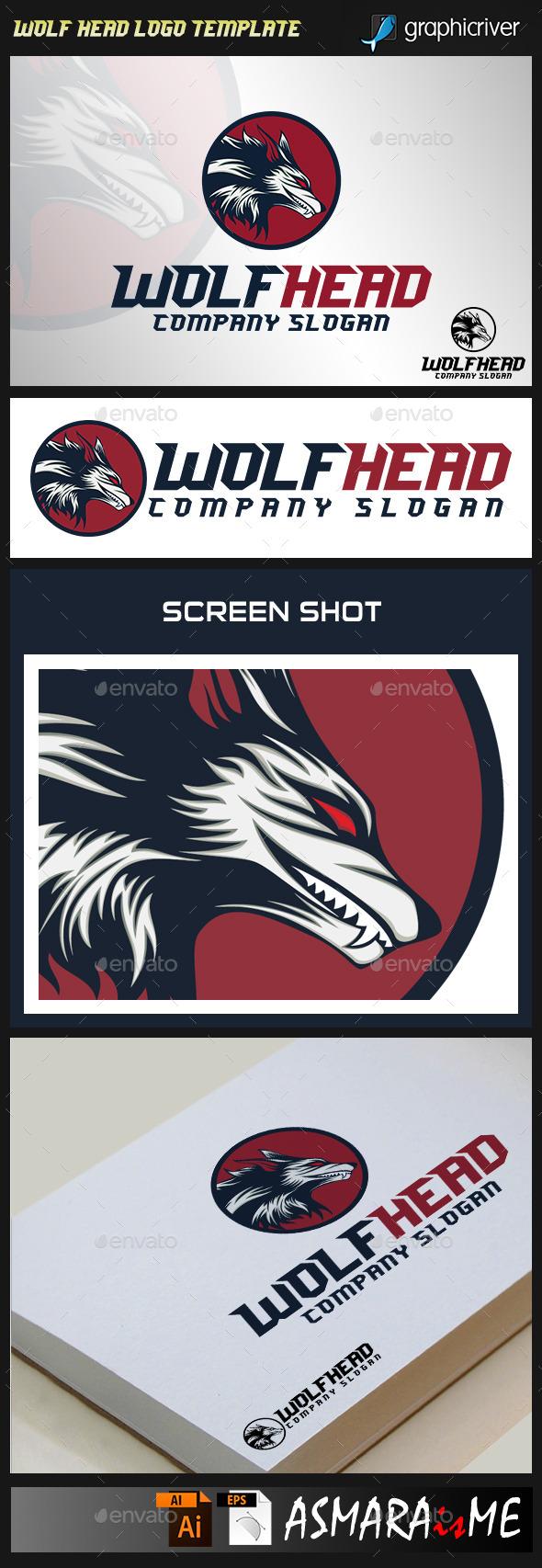 Wolf Head Logo Template - Animals Logo Templates