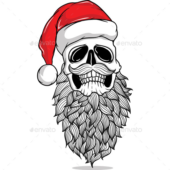 Santa Skull - Christmas Seasons/Holidays